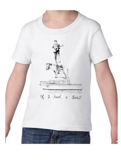 Lyle Lovett - If I Had A Boat Toddler Tee - White
