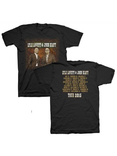Lyle Lovett & John Hiatt 2015 Tour T-Shirt