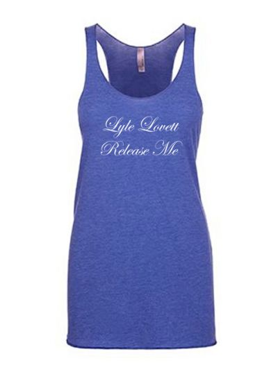 Lyle Lovett - Release Me Racerback Juniors Tank Top